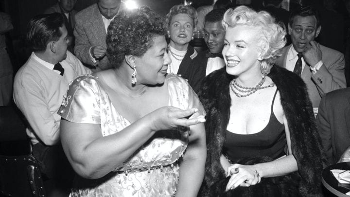 Marilyn Monroe and Ella Fitzgerald